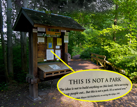 THIS IS NOT A PARK: The Kiosk at the entrance to the Celery Farm