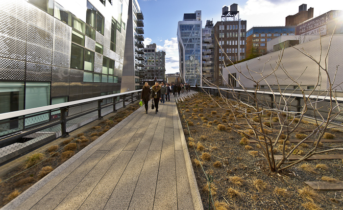 Very Polished: Cleaned Up Highline gardens ready for Spring.