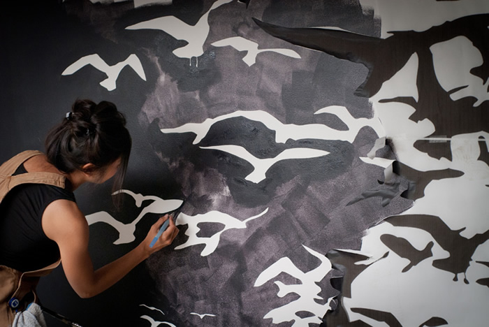 Jane Kim, Artist | Science Illustrator, alternant angle of work from Facebook artist in residence program